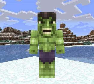 我的世界绿巨人皮肤MOD