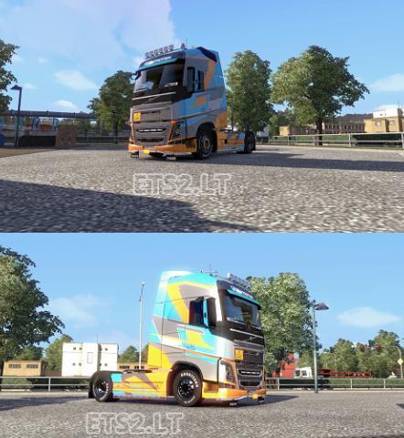 欧洲卡车模拟2沃尔沃FH2012皮肤MOD