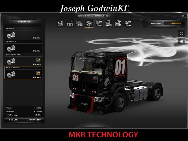 欧洲卡车模拟2MKR科技系列MOD