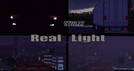 欧洲卡车模拟2真实灯光MOD