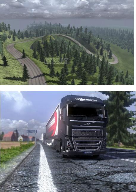 欧洲卡车模拟2极限地图