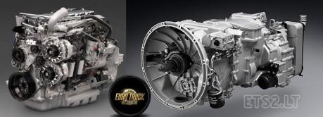 欧洲卡车模拟2引擎及变速箱MOD