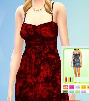 模拟人生4红色裙子MOD