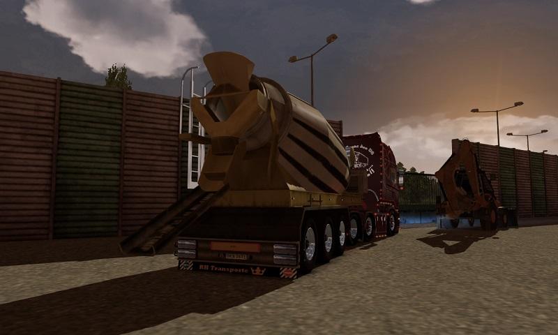 欧洲卡车模拟2水泥搅拌机拖车MOD