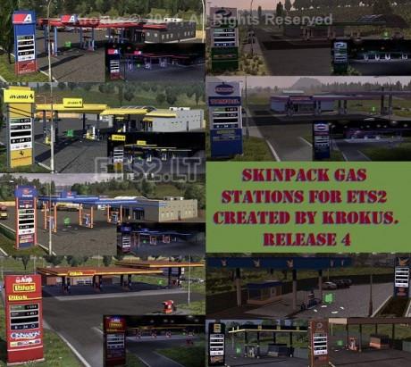 欧洲卡车模拟2加油站新版MOD