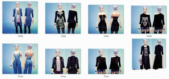 模拟人生4女性外套MOD合集