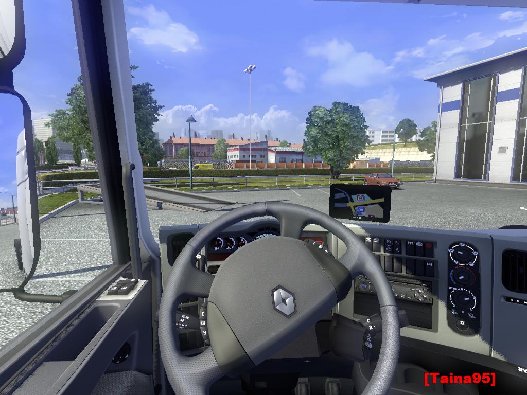 欧洲卡车模拟2雷诺车GPS导航MOD