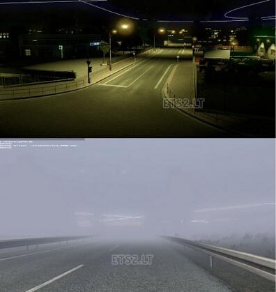 欧洲卡车模拟2天气系统MOD