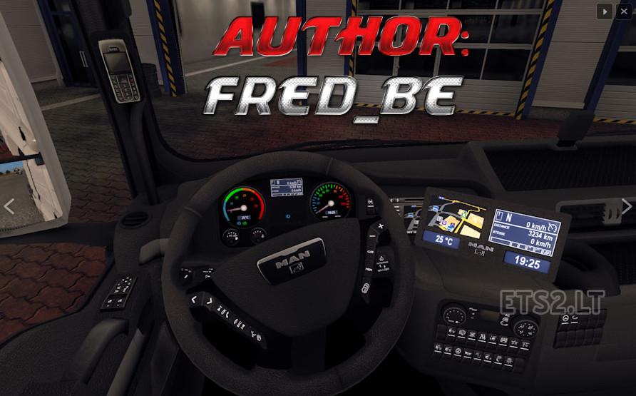欧洲卡车模拟2MANTGX仪表盘MOD