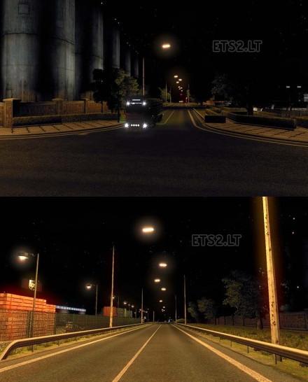 欧洲卡车模拟2真实智能灯及环境MOD