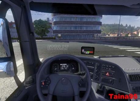 欧洲卡车模拟2梅赛德斯车GPS导航MOD