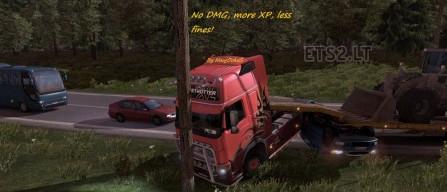欧洲卡车模拟2无伤害少罚款经验加倍MOD