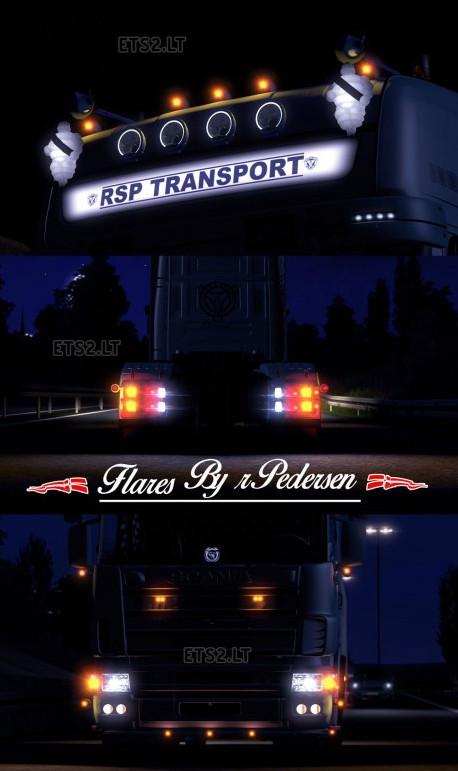 欧洲卡车模拟2超炫灯光光效MOD