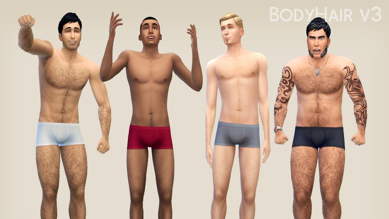 模拟人生4非替换版男性体毛MOD