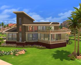 模拟人生4现代风格新颖别墅MOD