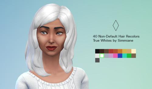 模拟人生4白色改色发型系列MOD