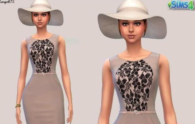 模拟人生4复古典雅长裙MOD