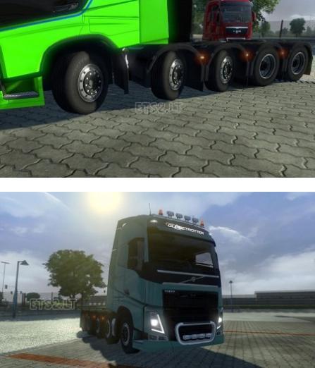 欧洲卡车模拟2沃尔沃FH 2012 108底盘MOD