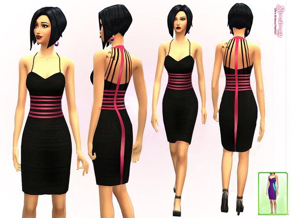 模拟人生4性感紧身连衣裙MOD