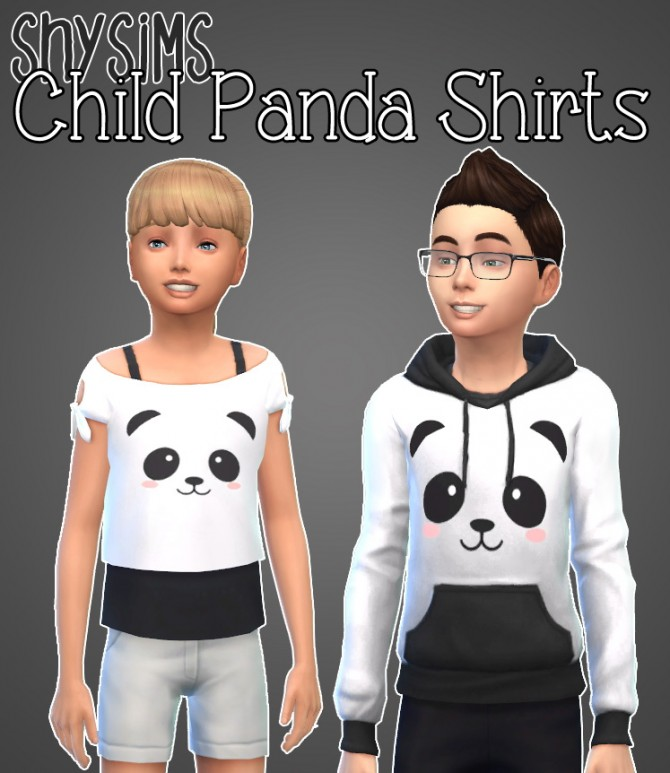 模拟人生4熊猫衬衫童装MOD
