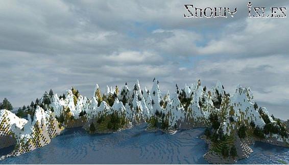 我的世界雪山地形地图存档