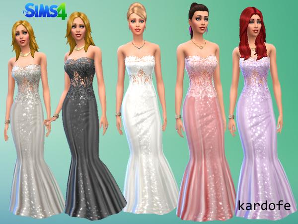 模拟人生4女性晚礼服mod合集