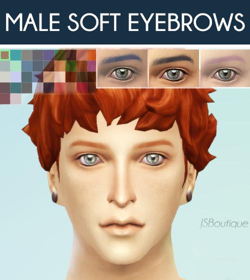 模拟人生4男性替换眉毛MOD合集