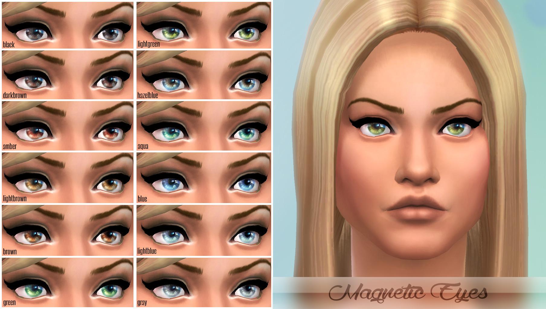 模拟人生4充满吸引力的瞳孔