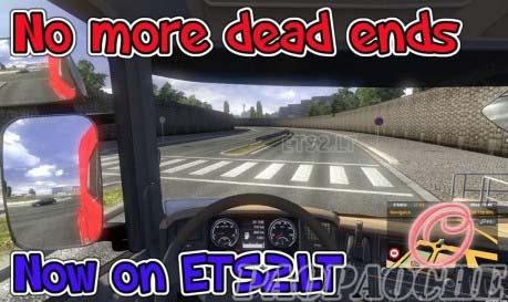 欧洲卡车模拟2去除死路MOD
