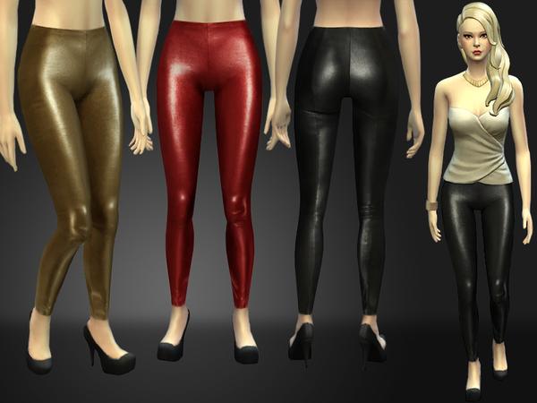 模拟人生4女性性感紧身皮裤MOD