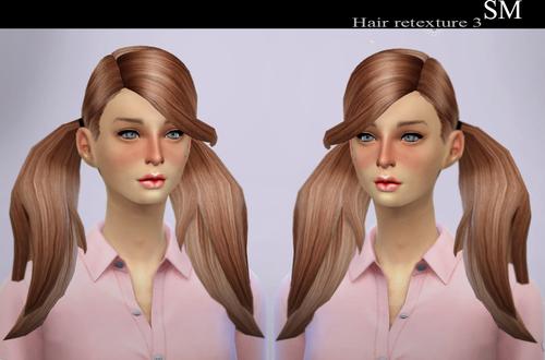模拟人生4女性新建模双马尾
