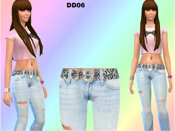 模拟人生4女性破洞牛仔裤MOD