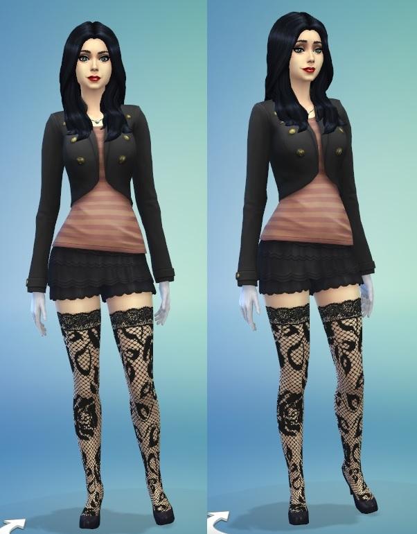 模拟人生4女式性感蕾丝裤袜MOD