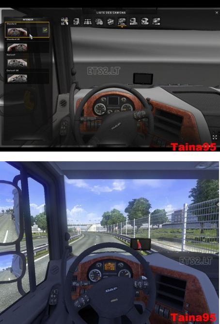 欧洲卡车模拟2DAF车GPS MOD