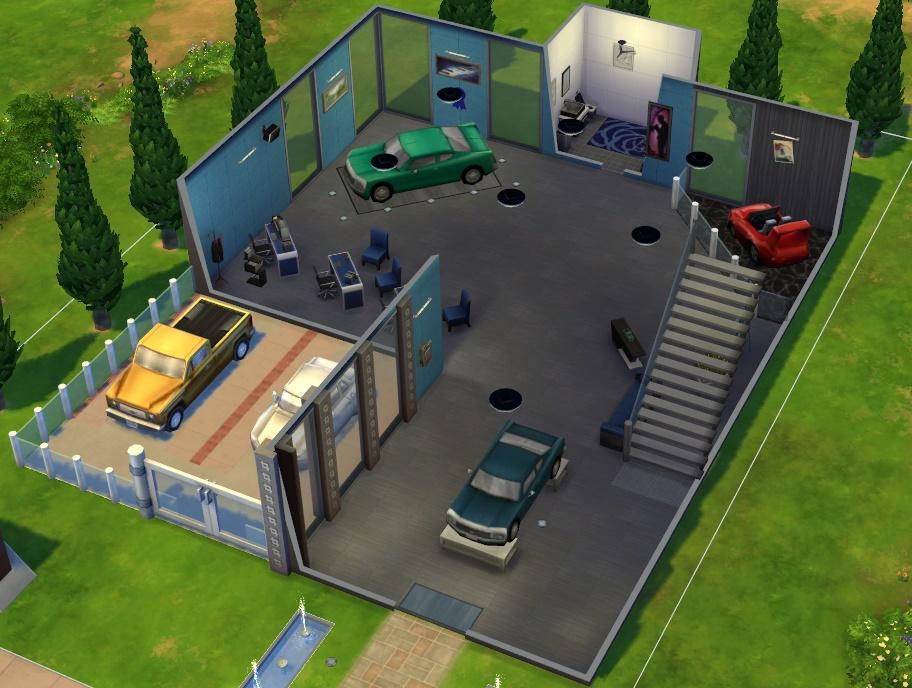 模拟人生4车展中心MOD