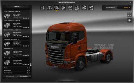 欧洲卡车模拟2强力马达引擎MOD
