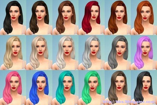 模拟人生4古典美女波浪发型mod