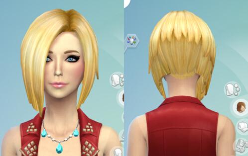 模拟人生4女性彩色短发MOD