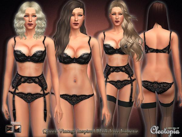模拟人生4女王气质镂空内衣MOD