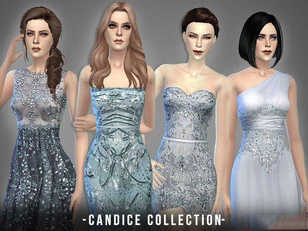 模拟人生4几套女神范儿礼服MOD