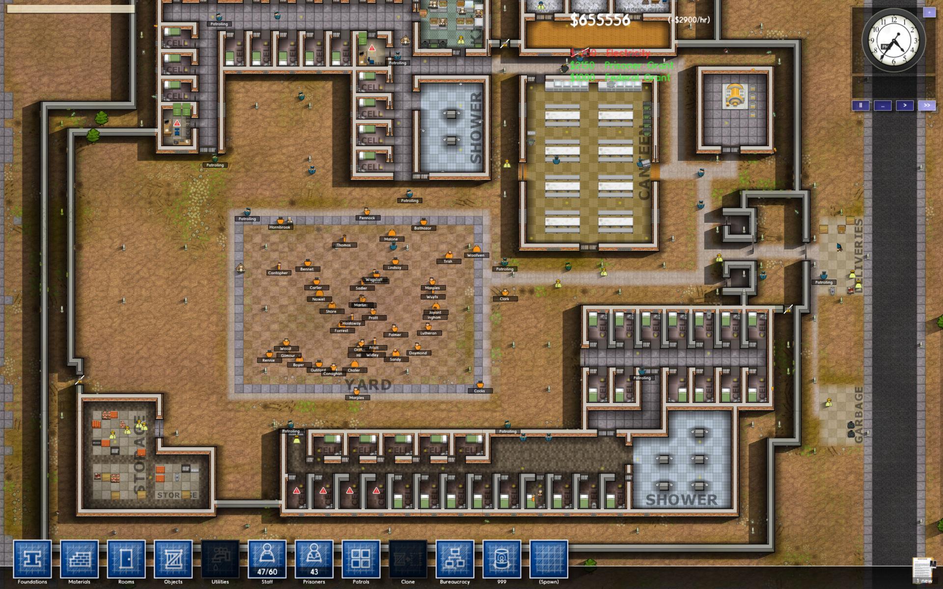 现代监狱设计平面图