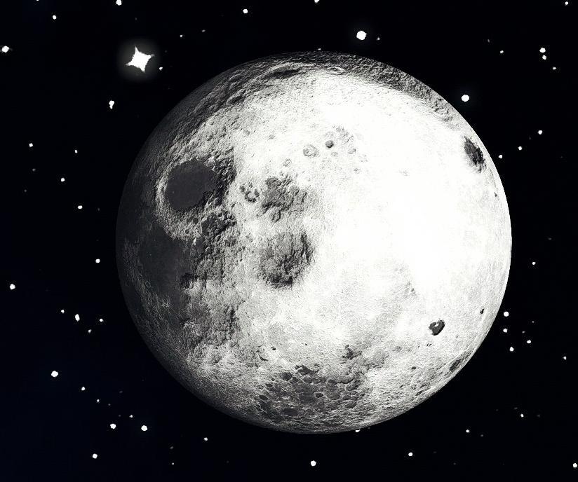 属于动作射击类单机游戏,在虚拟世界,玩家可以见证真实的月亮和星星图片