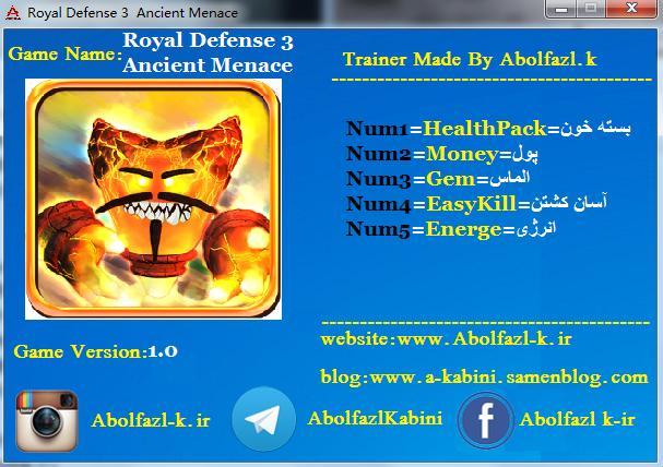皇家塔防3古老的威胁v1.0修改器+5Abolfazl.k下手柄游戏攻略图片