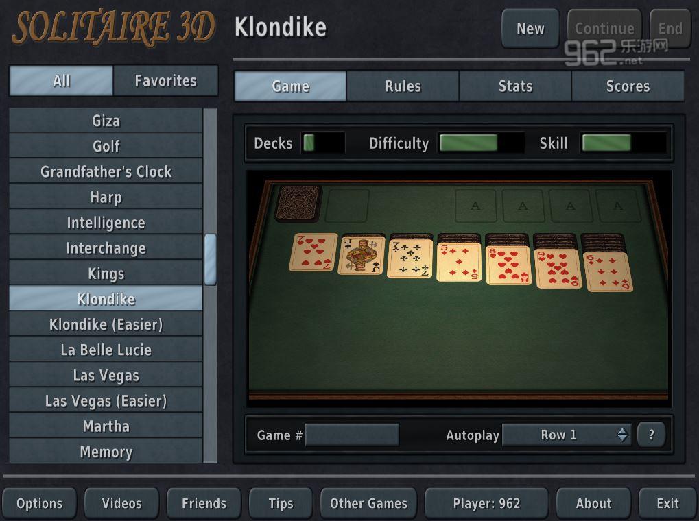 纸牌游戏3D版英文版截图1