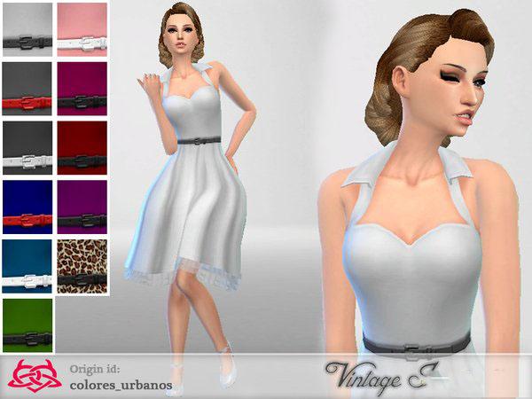 模拟人生4女性欧式复古连衣裙MOD