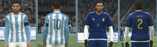 实况足球2015阿根廷国家队2015美洲杯球衣
