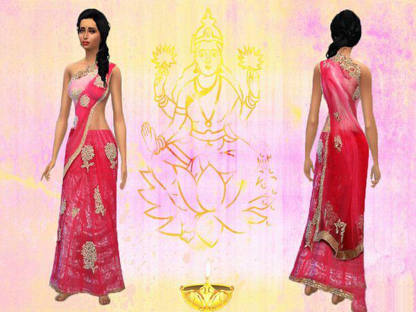模拟人生4印度风女裙MOD