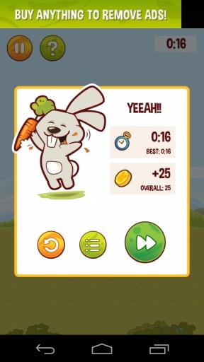饥饿的兔子 吃个萝卜不容易 安卓趣味休闲游戏v1.3截图1