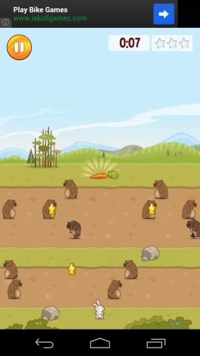 饥饿的兔子 吃个萝卜不容易 安卓趣味休闲游戏v1.3截图2