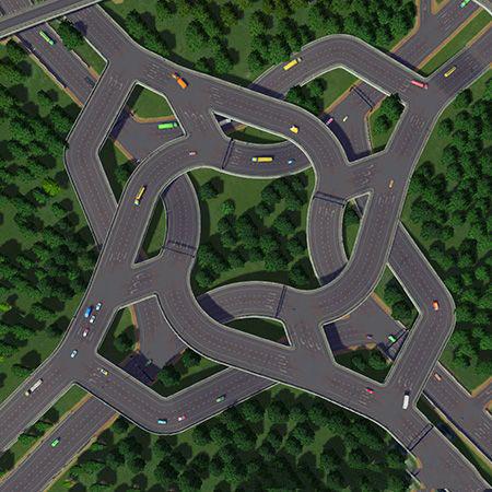 城市:天际线十字路口mod